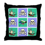 Treasure Map Blocks Throw Pillow