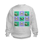Treasure Map Blocks Kids Sweatshirt