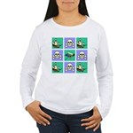 Treasure Map Blocks Women's Long Sleeve T-Shirt