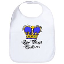 His Royal Highness Blue Crown Bib
