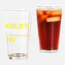 Cute Kolby Drinking Glass