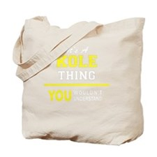 Funny Kole Tote Bag