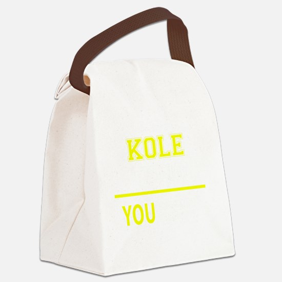 Funny Kole Canvas Lunch Bag