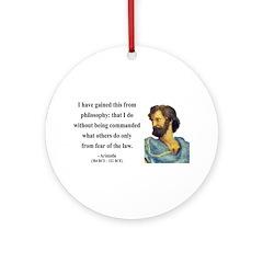Aristotle 8 Ornament (Round)