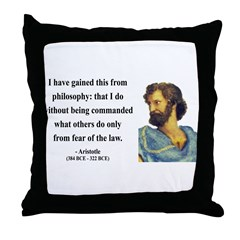 Aristotle 8 Throw Pillow