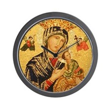 Our Lady of Perpetual Help Wall Clock