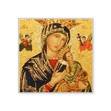 "Our Lady of Perpetual Help Square Sticker 3"" x 3"""