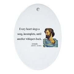 Aristotle 7 Oval Ornament