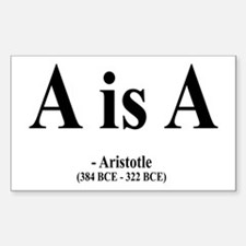 Aristotle 6 Rectangle Decal
