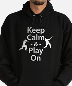 Keep Calm and Play On (Cricket) Hoodie