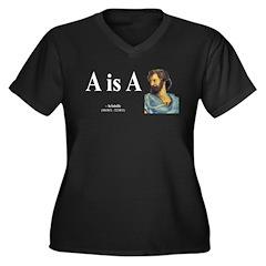 Aristotle 6 Women's Plus Size V-Neck Dark T-Shirt