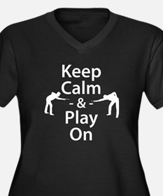 Keep Calm and Play On (Billiards) Plus Size T-Shir