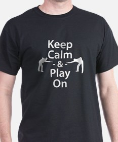 Keep Calm and Play On (Billiards) T-Shirt