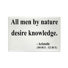Aristotle 5 Rectangle Magnet (10 pack)