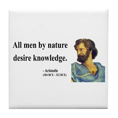 Aristotle 5 Tile Coaster