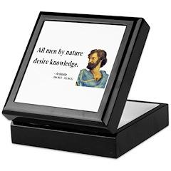 Aristotle 5 Keepsake Box