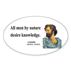 Aristotle 5 Oval Decal