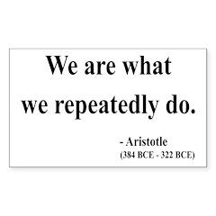 Aristotle 4 Rectangle Decal