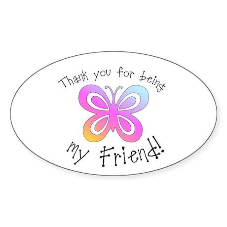My Friend Oval Sticker