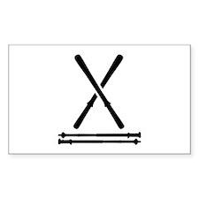 Ski equipment Decal