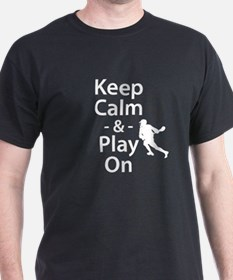 Keep Calm and Play On (Lacrosse) T-Shirt
