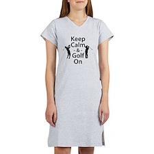 Keep Calm and Golf On Women's Nightshirt