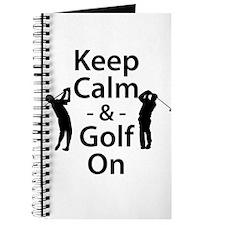 Keep Calm and Golf On Journal