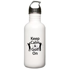 Keep Calm and Golf On Water Bottle
