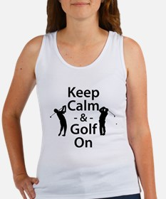 Keep Calm and Golf On Tank Top