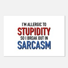 I'm Allergic To Stupidity Postcards (Package of 8)