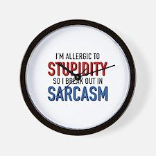 I'm Allergic To Stupidity Wall Clock