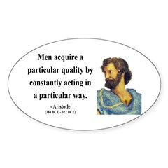 Aristotle 3 Oval Decal