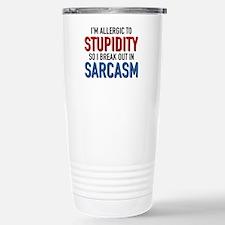 I'm Allergic To Stupidity Ceramic Travel Mug