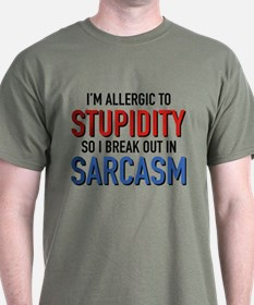 I'm Allergic To Stupidity T-Shirt