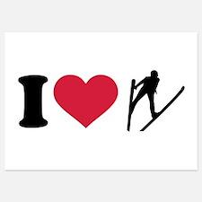 I love ski jumping Invitations
