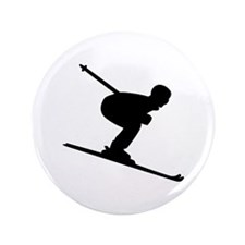 """Downhill Skiing 3.5"""" Button"""