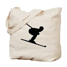 Downhill Skiing Tote Bag