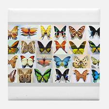 Bitterflies no text Tile Coaster