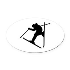 Freestyle ski Oval Car Magnet