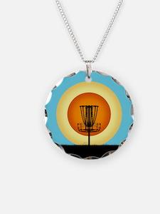 Colorful Disc Golf Basket Necklace