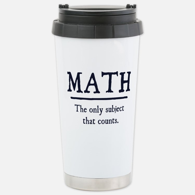 Cute I hate math Travel Mug