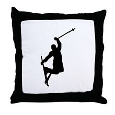 Freestyle ski jump Throw Pillow