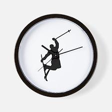 Freestyle ski jump Wall Clock
