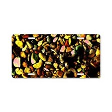 Neon Mossy Pebbles Aluminum License Plate