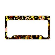 Neon Mossy Pebbles License Plate Holder
