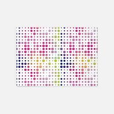 Multicolored Dots 5'x7'Area Rug
