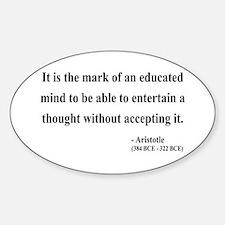 Aristotle 1 Oval Decal