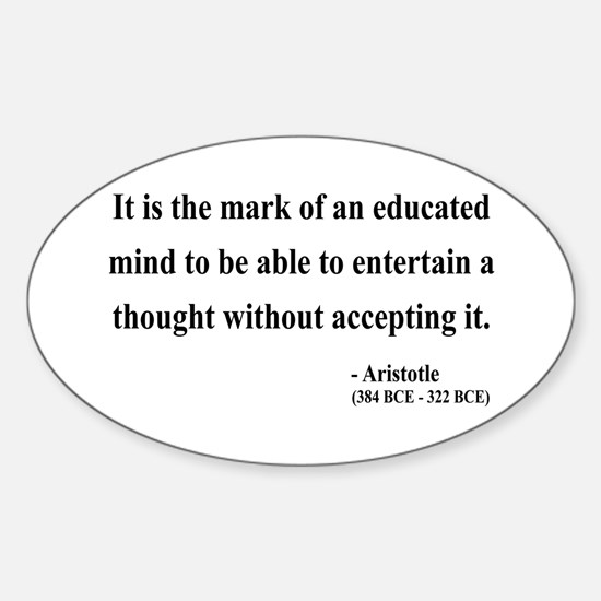 Aristotle 1 Oval Decal