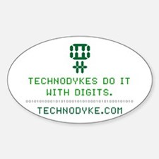 TechnoDykes Do it with Digits Oval Decal