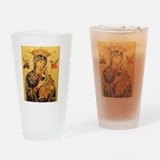 Our Lady of Perpetual Help Drinking Glass